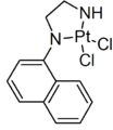 (N-1-Naphthyl-ethylenediamine)-dichloroplatinum(II) structure.png