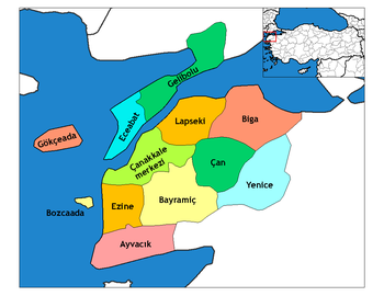 Px C Anakkale Districts