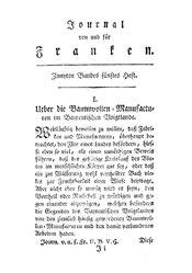 Über die Baumwollen-Manufakturen im Bayreutischen Voigtlande, S. 489-521
