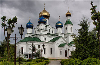 Babruysk - The recently (2006–2009) rebuilt orthodox St. Nicholas cathedral in Babruysk.