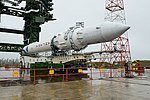 Вывоз и установка ракеты космического назначения «Ангара-1.2ПП» на стартовом комплексе космодрома Плесецк 13.jpg