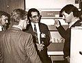 В. И. Киселёв (справа) и Е. С. Северин (в центре) во время визита коллег из Германии.jpg