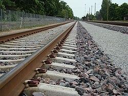 Железнодорожный транспорт Википедия Железнодорожный путь со скреплением Пандрол 350