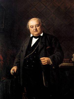 Mikhail Shchepkin - Portrait by Nikolai Nevrev