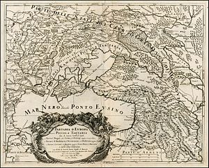 Vladimir, Russia - 17th century map