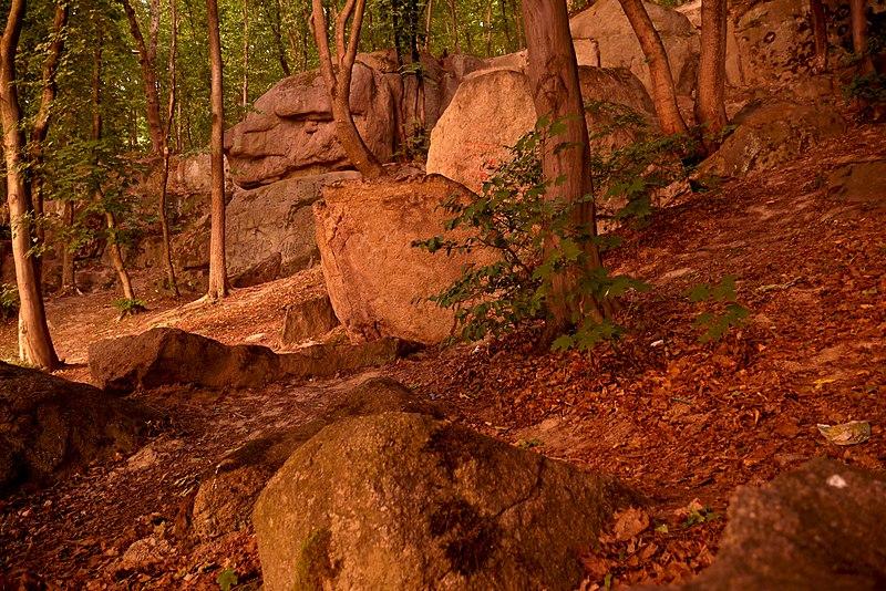 Пам'ятка природи «Скеля М. Коцюбинського», Вінницька область. Автор фото — Posterrr, ліцензія CC BY-SA 4.0