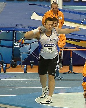 2011 Asian Athletics Championships - Shot putter Chang Ming-Huang claimed Chinese Taipei's only gold.