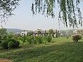 洛阳洛龙区龙门石窟景区外面的花坛 - panoramio.jpg