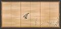 芦雁図屏風; 柳に水上月図屏風-Goose and Reeds; Willows and Moon MET DP704980.jpg
