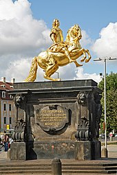 Equestrian statue of Augustus II the Strong in Dresden (Source: Wikimedia)