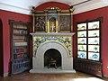 026 Monestir de Sant Benet de Bages, estances de Ramon Casas, llar de foc de la sala del piano.jpg
