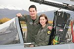 070801-F-0000X-050 First female F-22 Pilot Capt. Jammie Jamieson with her husband Capt. Kevin Jamieson.jpg