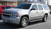A 2007 Chevrolet Suburban, one model of SUV