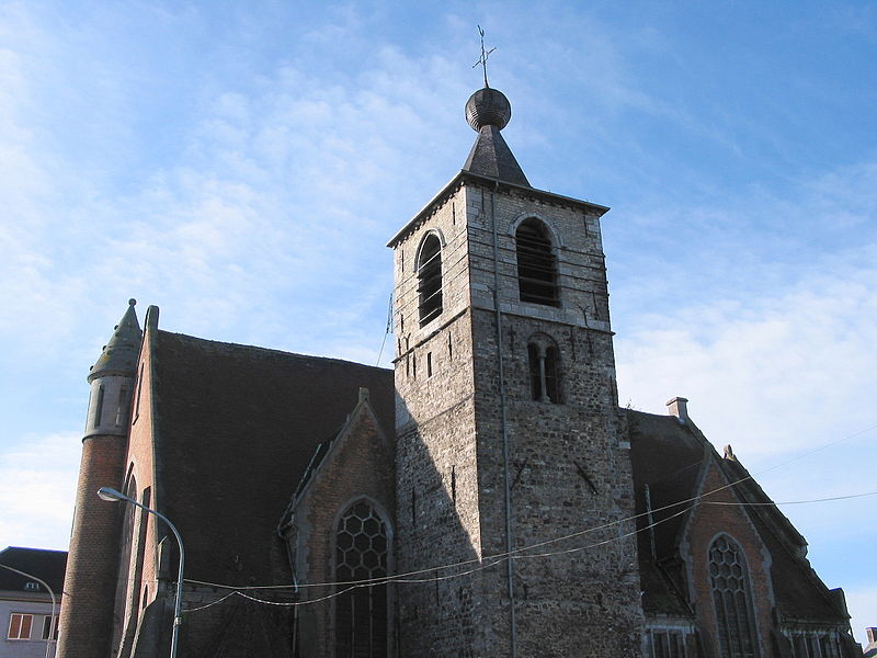 Anderlues (Belgium), the former Saint Medardus' church.