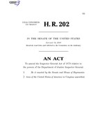 116th United States Congress H. R. 0000202 (1st session) - Inspector General Access Act of 2019 C - Referred in Senate.pdf