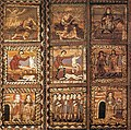 12th century unknown painters - Wooden ceiling (detail) - WGA19760.jpg