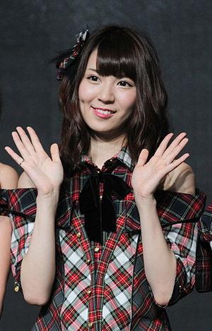 Ayaka Kikuchi (singer) - Image: 130413 AKB48 at Tokyo Auto Salon Singapore Meet & Greet 2 and Performance (11)