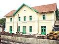 150523 Pilisvörösvár állomásépület felújítás alatt.JPG
