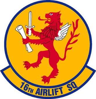 16th Airlift Squadron - 16th Airlift Squadron Patch