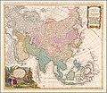 1744 map of Asia by Johann Matthias Hase.jpg
