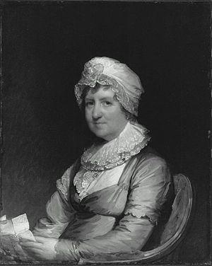 Ebenezer Battelle - Portrait of Anna Durant, wife of Ebenezer Battelle; by Gilbert Stuart, 1810 (Museum of Fine Arts, Boston)
