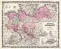 1862 Johnson Map of Northern Germany ( Holstein and Hanover ) - Geographicus - GermanyNorth-johnson-1862.jpg