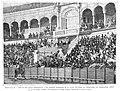 1887-05-15, La Ilustración Española y Americana, Sevilla, Aspecto del palco presidencial y los centros inmediatos de la plaza de toros al verificarse las carreras de cintas el 2 de abril último, Beauchy, Rico.jpg