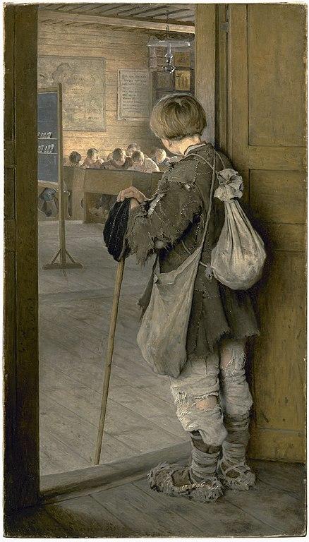 438px-1897_Bogdanov-Belsky_At_School_Doors.jpg (438×768)