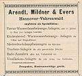 1897 circa Werbung Arendt Mildner & Evers Hannover Vahrenwald Wasserdunstheizung.JPG