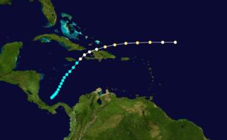 1909 Greater Antilles hurricane Category 2 Atlantic hurricane in 1909
