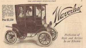Pope-Waverley - 1910 Waverley Coupe.