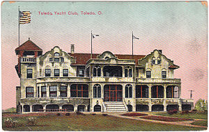 Toledo Yacht Club - 1920 Postcard of Toledo Yacht Club in Toledo, Ohio