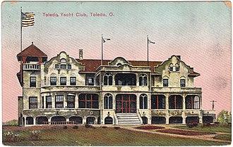 Toledo Yacht Club - 1920 Postcard of Toledo Yacht Club in Toledo, Ohio