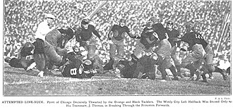 1922 Princeton vs. Chicago football game - Princeton stuffs Chicago.