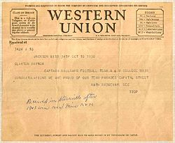 1930 Western Union telegram Millsaps College Mississippi State University.jpg