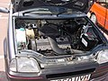 193 - August 1990 grey Rover Metro 1.4 GTi engine bay with 1.4 16v single point injection K-series engine.jpg