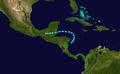 1945 Atlantic tropical storm 6 track.png