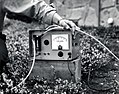1961. Gas analyzer (fumiscope) used to measure methyl bromide gas pressure in portable chamber during outdoor fumigation of European pine shoot moth. (34232404522).jpg