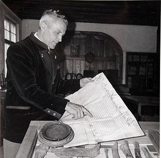 Veringenstadt - 1962 Stefan Fink Mayor of Veringenstadt