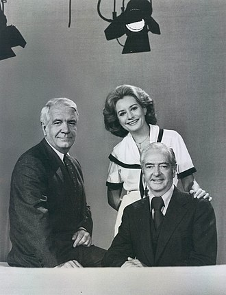 Harry Reasoner - Reasoner with fellow newsanchors Barbara Walters and Howard K. Smith in 1976.