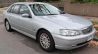 Ford Fairlane (Australia) - Image: 2004 Ford Fairlane (BA) Ghia sedan (18152287511) (cropped)
