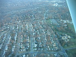 Aerial view of Garrett Park, Maryland, in January 2007.