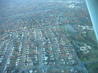Garrett Park, Maryland - Aerial view of Garrett Park, Maryland, in January 2007.