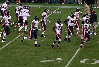 2009 Chicago Bears season - The Bears run onto the field before their game against the 49ers