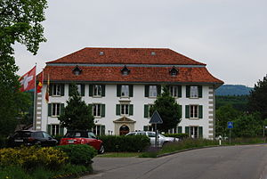 Orpund - Former Granary of Orpund, today the municipal administration building.