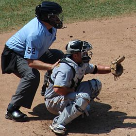 20120801 Michael McKenry catching and Bill Welke umpiring cropped.jpg