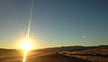 2014-10-28 08 11 25 View east during sunrise along Interstate 80 near milepost 63 in Tooele County, Utah.JPG