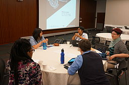 Frances, Sumana, and other open source interns and mentors at Wiki Conference USA 2014, by Geraldshields11 (Own work) [CC-BY-SA-3.0 (http://creativecommons.org/licenses/by-sa/3.0)], via Wikimedia Commons
