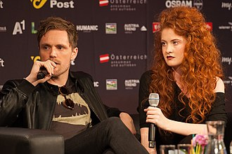 Norway in the Eurovision Song Contest 2015 - Mørland and Debrah Scarlett at a press meet and greet