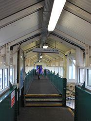 2015 at Chippenham station - original footbridge interior.JPG